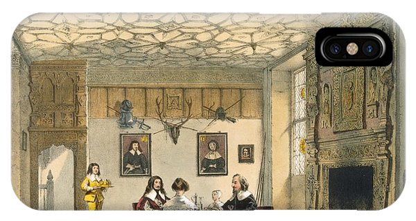 Fireplace iPhone Case - Medieval Family Supper, Wakehurst by Joseph Nash