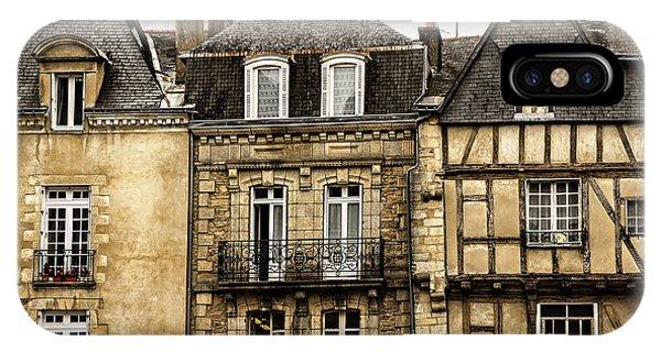Town iPhone Case - Medieval Houses In Vannes by Elena Elisseeva