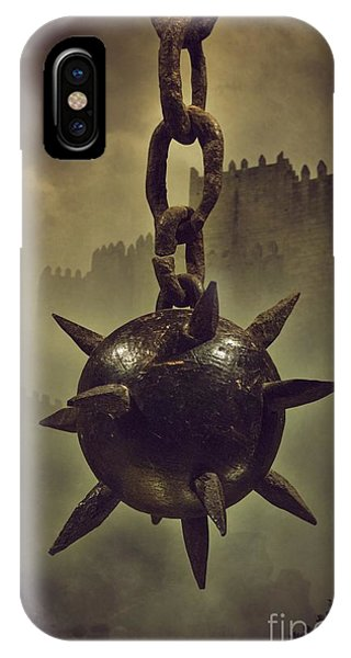 Smoke Fantasy iPhone Case - Medieval Spike Ball  by Carlos Caetano
