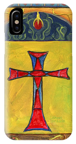 Medieval Style Symbolic Cross Original Painting IPhone Case