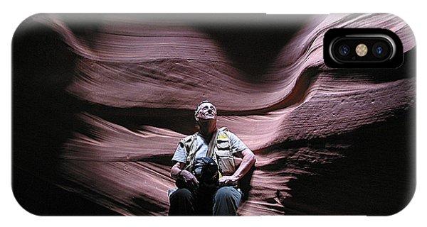 Meditating In Antelope Slot Canyon Arizona IPhone Case