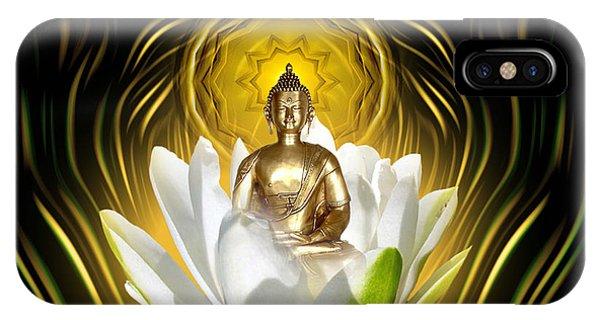 Meditating With Buddha IPhone Case