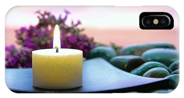 Meditative iPhone Case - Meditation Candle by Olivier Le Queinec