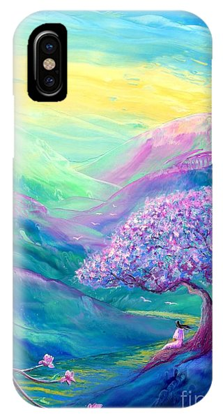 Blossoms iPhone Case - Meditation In Mauve by Jane Small
