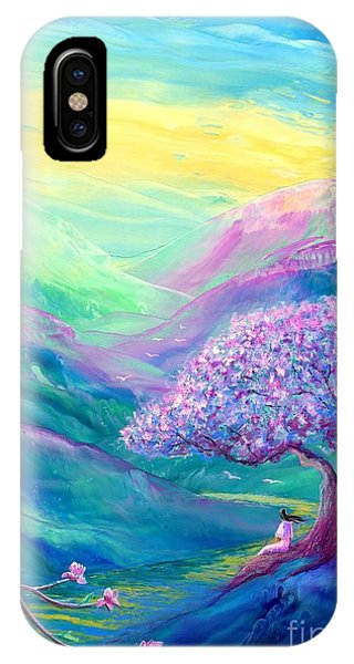 Lavender iPhone Case - Meditation In Mauve by Jane Small