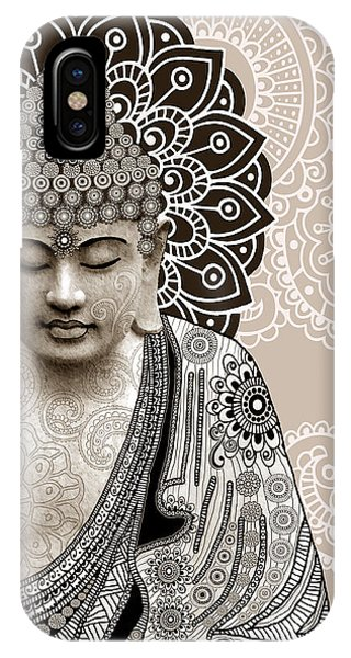 Religion iPhone Case - Meditation Mehndi - Paisley Buddha Artwork - Copyrighted by Christopher Beikmann