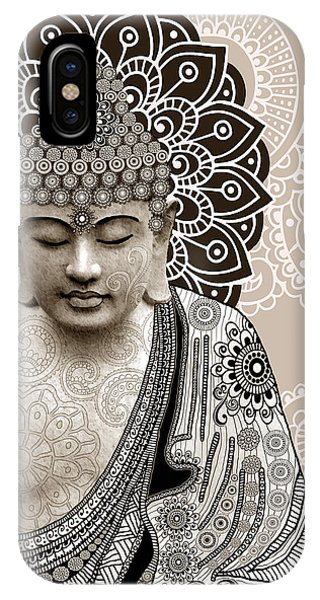 Meditation Mehndi - Paisley Buddha Artwork - Copyrighted IPhone Case