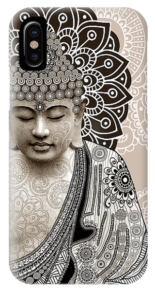 Religious iPhone Case - Meditation Mehndi - Paisley Buddha Artwork - Copyrighted by Christopher Beikmann
