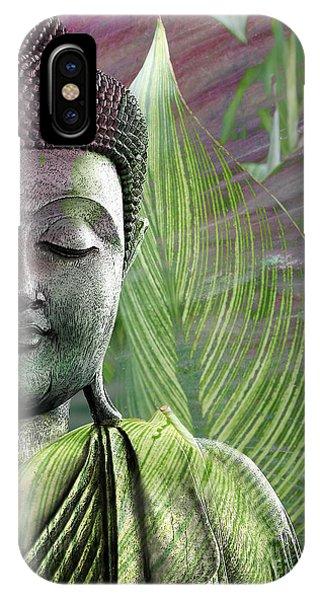 Meditative iPhone Case - Meditation Vegetation by Christopher Beikmann