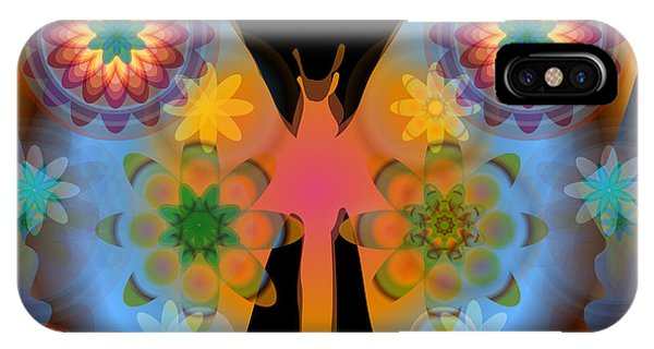 Meditative Butterfly IPhone Case