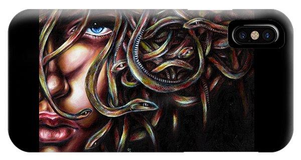 Garden Snake iPhone Case - Medusa No. Two by Hiroko Sakai