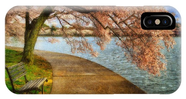 Tidal iPhone Case - Meet Me At Our Bench by Lois Bryan