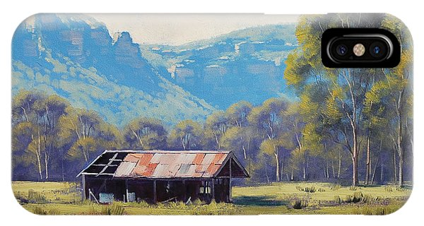 Megalong Valley Shed IPhone Case