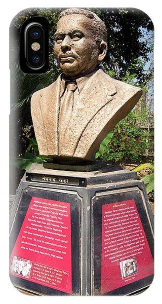 Meghnad Saha Monument In Mumbai IPhone Case