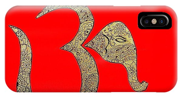 Mehndi Ganesh Ohm IPhone Case