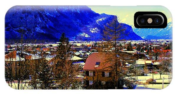 Meiringen Switzerland Alpine Village IPhone Case