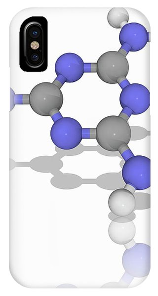Organic Matter iPhone Case - Melamine Organic Compound Molecule by Laguna Design/science Photo Library
