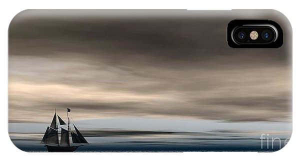 IPhone Case featuring the digital art Melancholy Waters by Sandra Bauser Digital Art