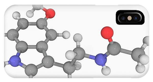 Organic Matter iPhone Case - Melatonin Molecule by Laguna Design/science Photo Library