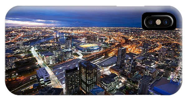 Melbourne At Night IPhone Case