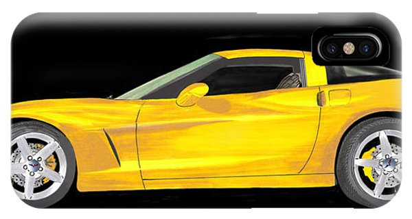 Mellow Yellow Corvette C 6 IPhone Case
