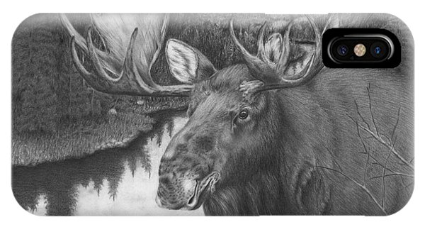 Melozi River Moose IPhone Case