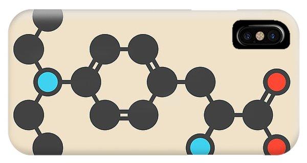 Mustard iPhone Case - Melphalan Cancer Drug Molecule by Molekuul