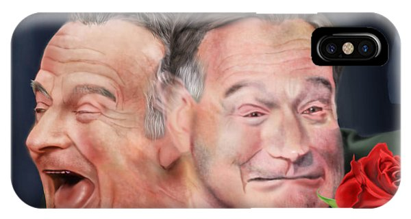 Robin Williams Comedian iPhone Case - Melpomene And Thalia The Duality Of Robin Williams by Reggie Duffie