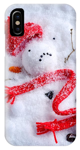 Knit Hat iPhone Case - Melted Snowman by Amanda Elwell