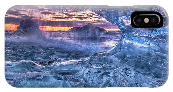 Frost iPhone Case - Melting Blue Crystal by Peter Svoboda, Mqep