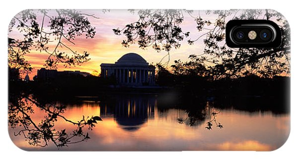 Jefferson Memorial iPhone Case - Memorial At The Waterfront, Jefferson by Panoramic Images