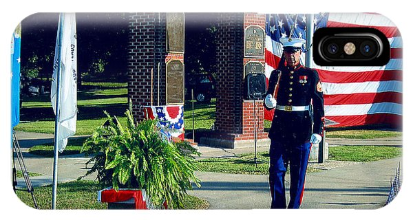 Memorial Day Honor Guard IPhone Case
