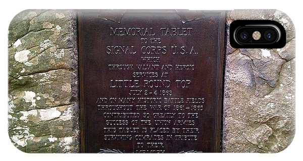 Memorial Tablet To Signal Corps U.s.a. IPhone Case