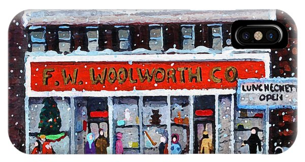 Memories Of Winter At Woolworth's IPhone Case