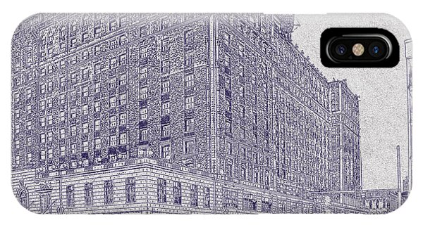 Memphis Peabody Hotel Blueprint IPhone Case