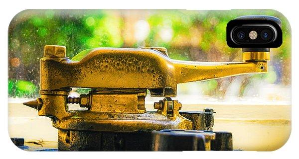 Trolley Car iPhone Case - Memphis Trolley Detail - Brass Handle by Jon Woodhams