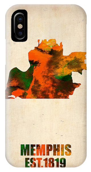 Midwest iPhone Case - Memphis Watercolor Map by Naxart Studio