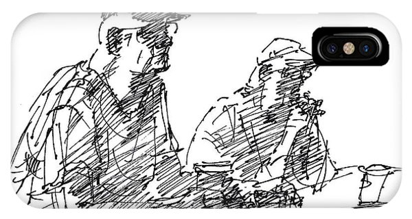 Bar iPhone Case - Men At The Bar by Ylli Haruni