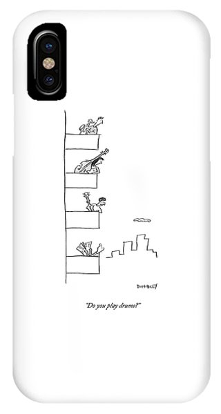 Men Playing Instruments On Different Levels IPhone Case