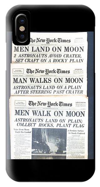 Men Walk On The Moon IPhone Case