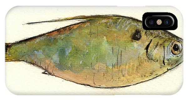 Lure iPhone Case - Menhaden Fish by Juan  Bosco