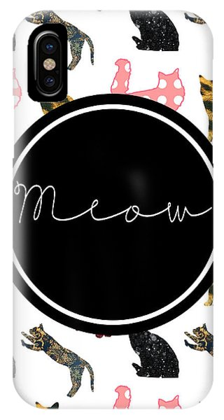 Cat iPhone X Case - Meow by Pati Photography