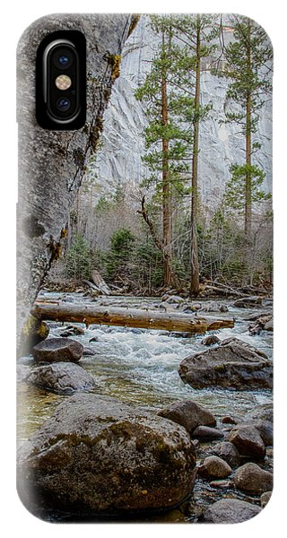 Merced River From Happy Isles IPhone Case