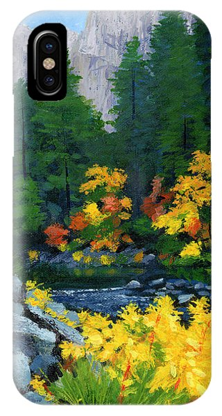 Merced River In Autumn IPhone Case