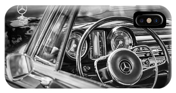 IPhone Case featuring the photograph Mercedes-benz 250 Se Steering Wheel Emblem by Jill Reger