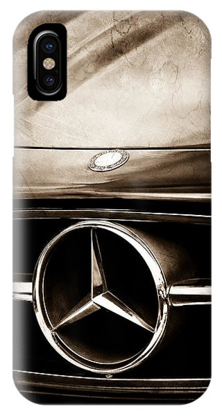 IPhone Case featuring the photograph Mercedes-benz Grille Emblem by Jill Reger