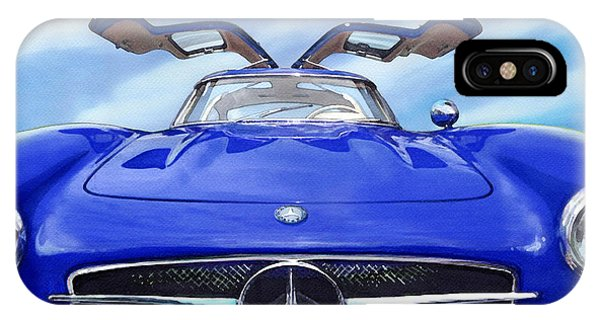 Mercedes Gullwing In Blue IPhone Case