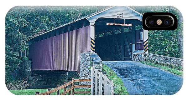 Mercer's Mill Covered Bridge IPhone Case