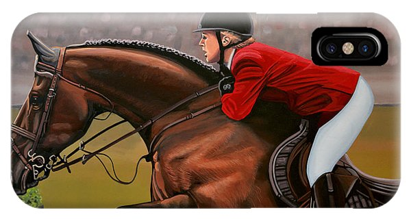 Horse iPhone Case - Meredith Michaels Beerbaum by Paul Meijering