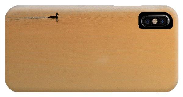 Cape Cod iPhone Case - Merganser Duck, Cape Cod, Ma Usa by Jose Azel